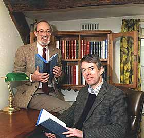 Michael Johnson and author Andrew Taylor